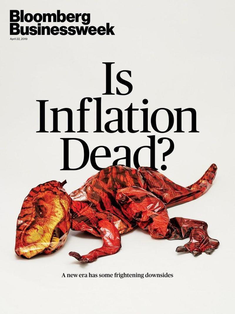 Business Week Cover - Is Inflation Dead? - April 2019