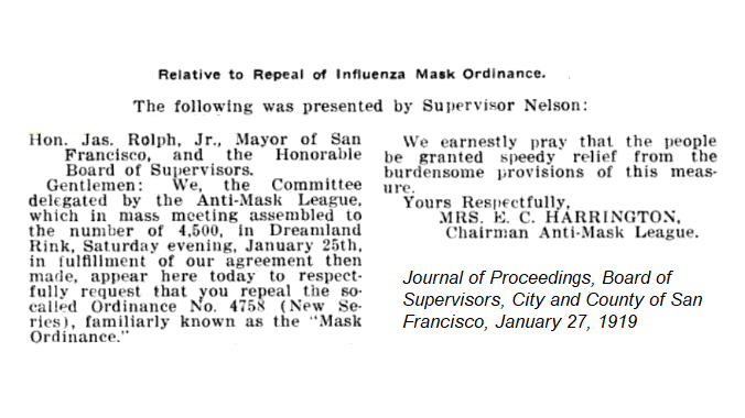 1918 flu pandemic - Anti-mask league