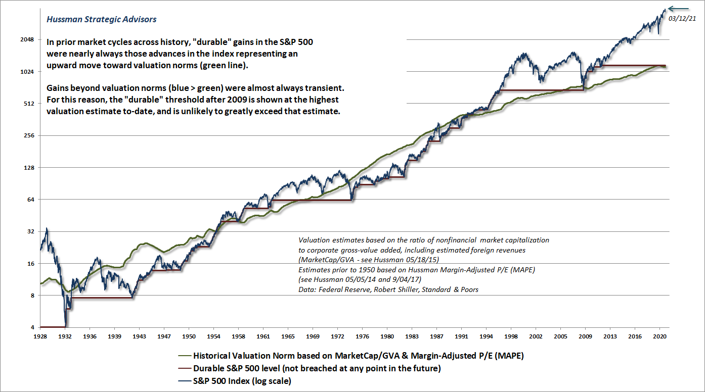 Durable and transient S&P 500 fluctuations